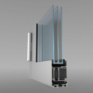 Теплая дверь со стандартными теплотехническими характеристиками — серия ALT W62