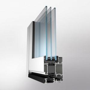 Теплая дверь с повышенными теплотехническими характеристиками — серия ALT W72